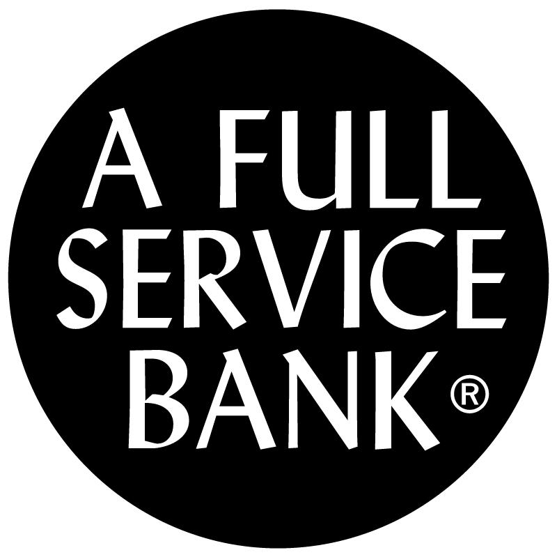 Full Service Bank vector