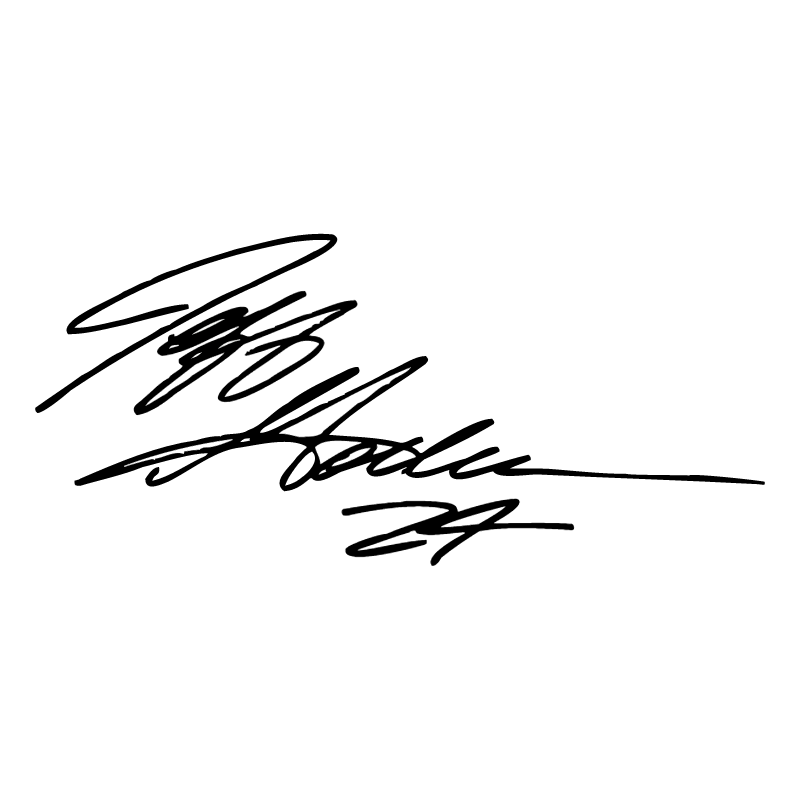 Jeff Gordon Signature vector