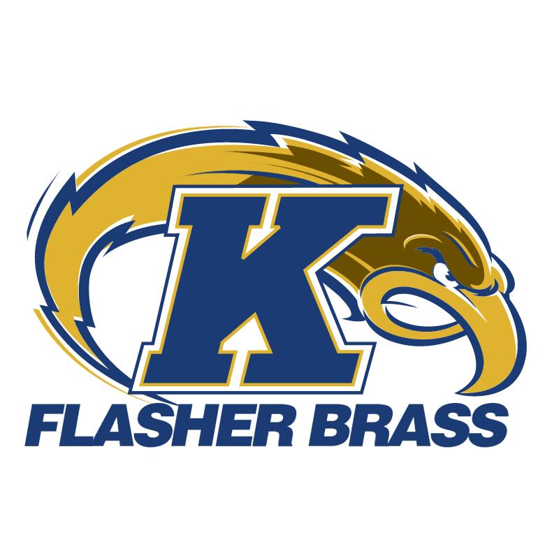 Ken State Flasher Brass vector