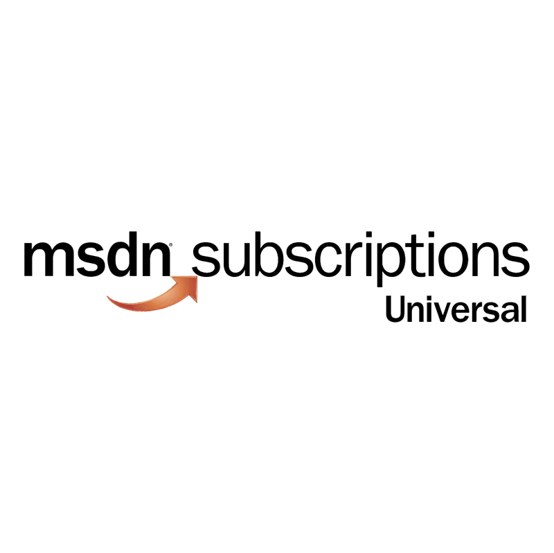 MSDN Subscriptions Universal vector