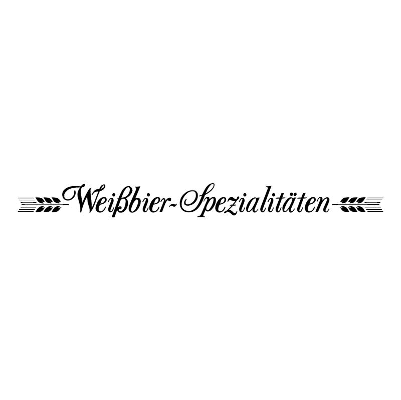 WeiBbier Spezialitaten vector