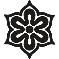 Flower of six petals from Japan vector