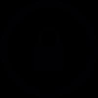 Lock button vector