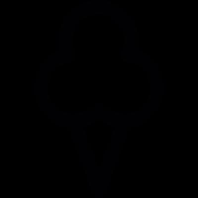 Cone ice cream vector logo
