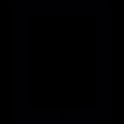 Portable tablet vector logo