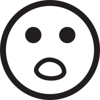 Surprised face vector