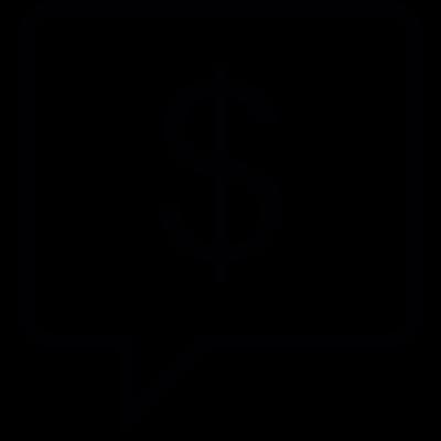 Dollar Sign In Speech Bubble vector logo