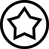 Star outline in a circle line vector
