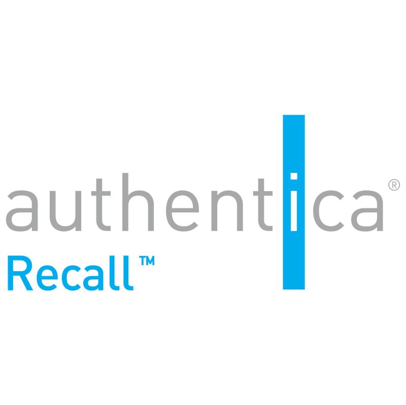 Authentica Recall 38898 vector