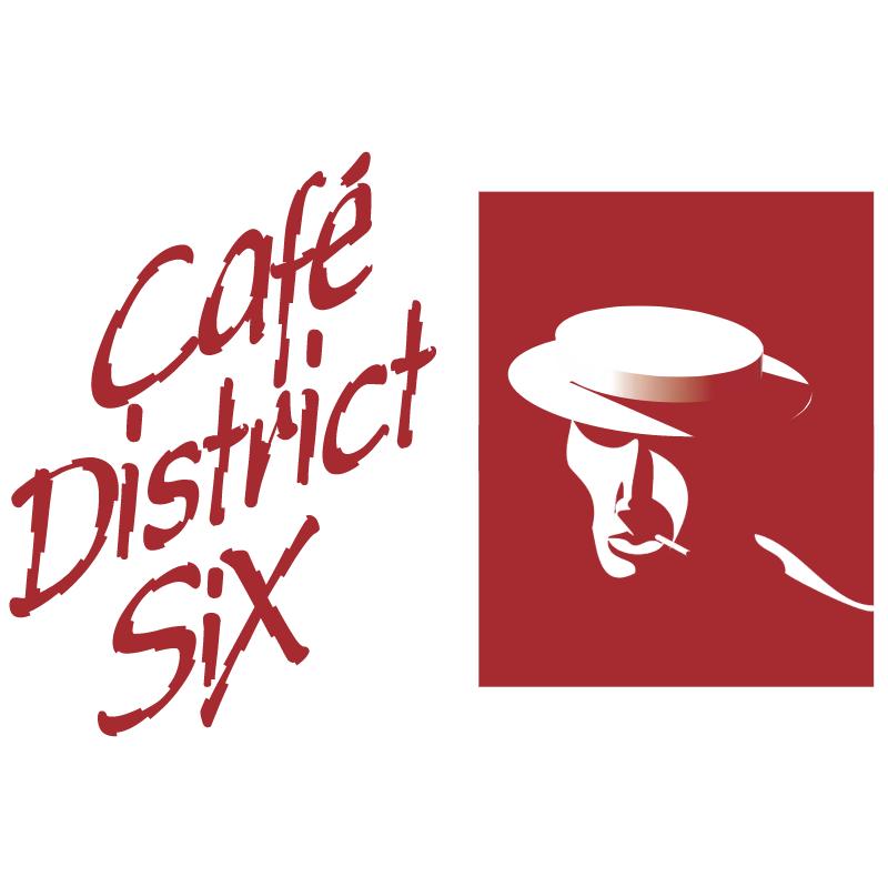 Cafe District Six vector logo