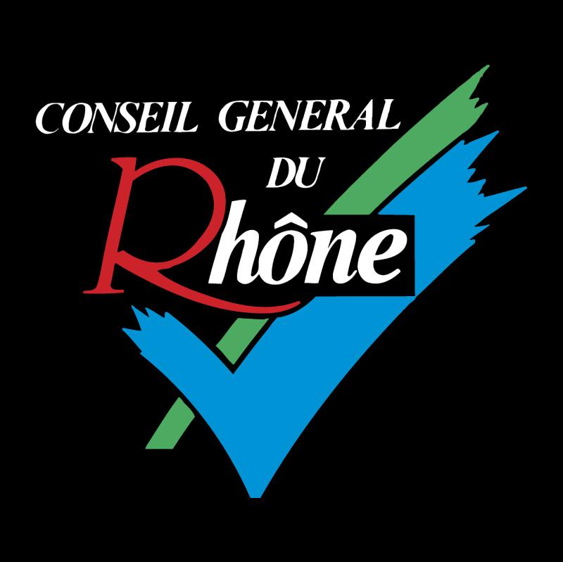 Conseil General du Rhone vector