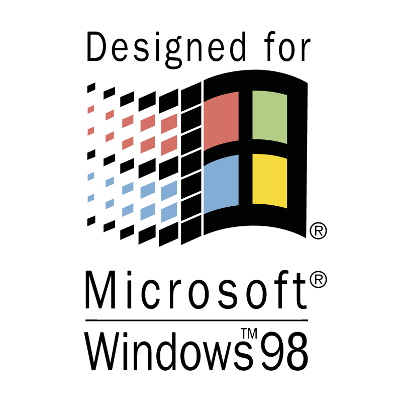 Designed for Microsoft Windows 98 vector