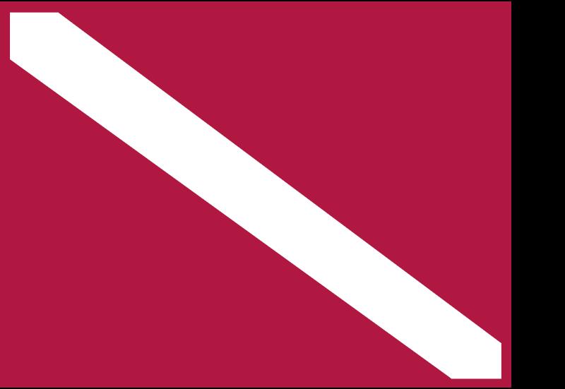 Diver Flag vector