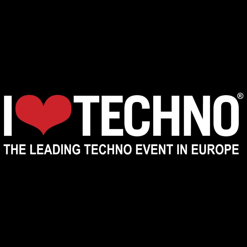 I Love Techno vector