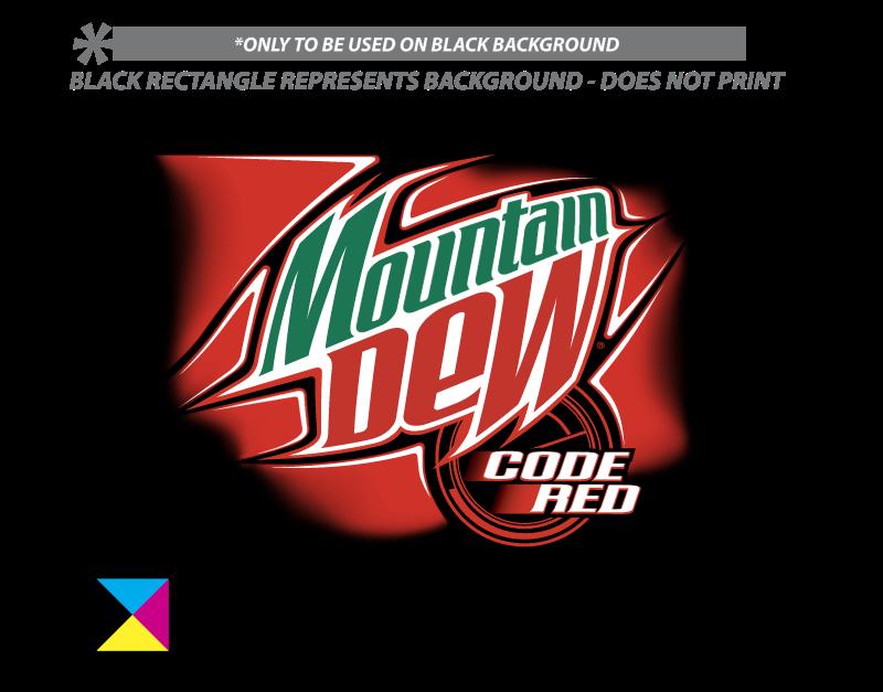 MOUNTAIN DEW CODE RED vector logo