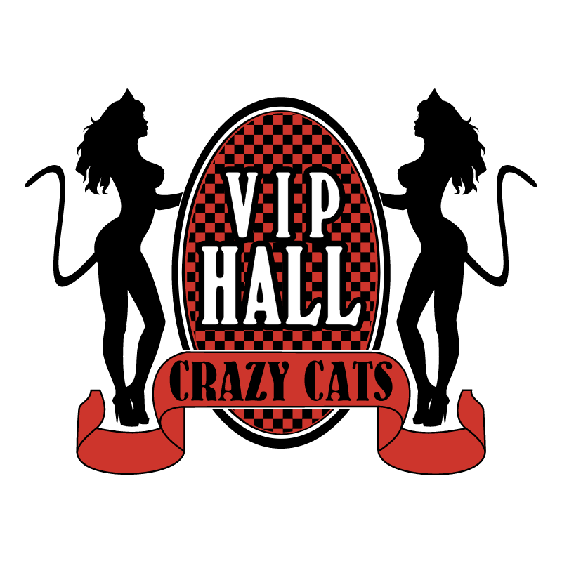 Vip Hall Crazy Cats vector