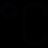 Celsius scale vector