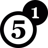 Numbers one and five vector