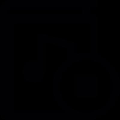 Stop audio book vector logo