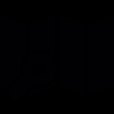Map search vector logo
