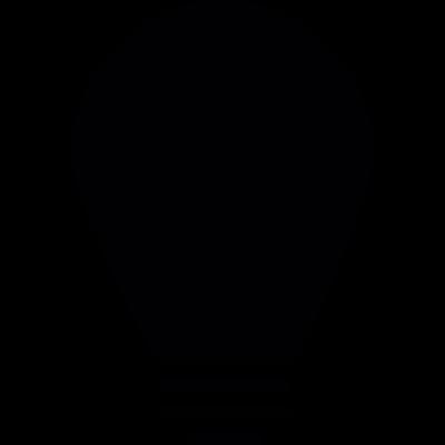 Vintage Light bulb vector logo
