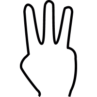 Three fingers, IOS 7 symbol vector