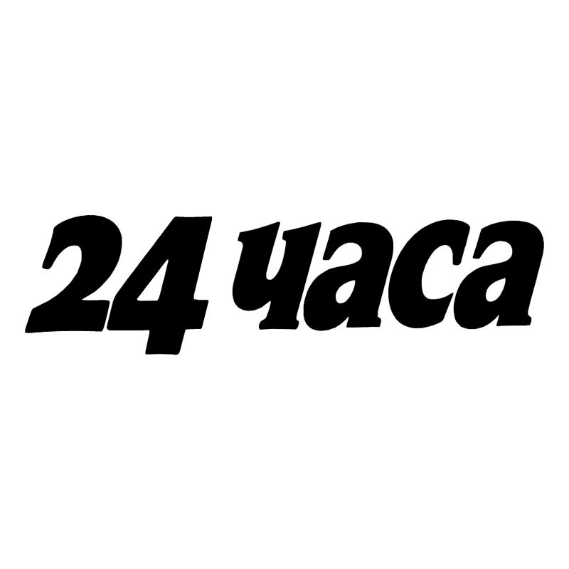 24 hours vector logo
