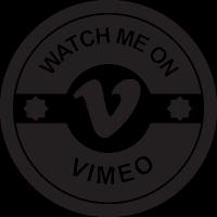 Watch me on vimeo vector