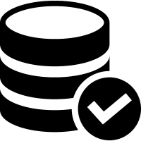 Coin stack variant with check mark vector
