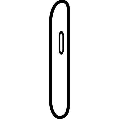 Mobile phone outline from side view vector logo