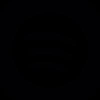 Spotify logo button vector