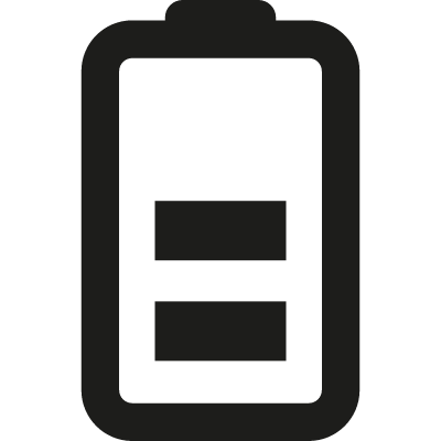 Half Battery vector logo