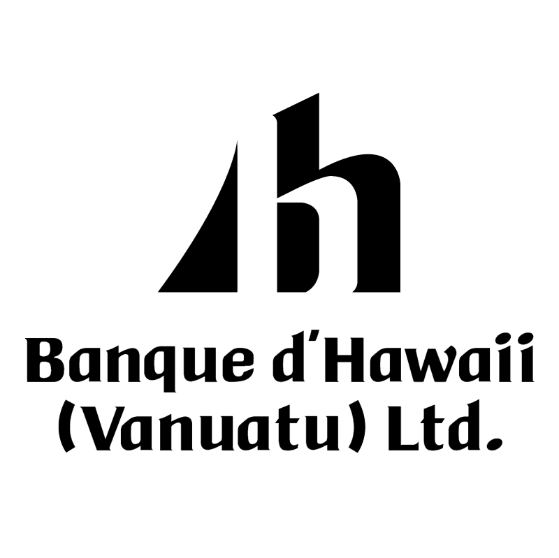 Banque d'Hawaii vector