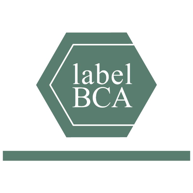 BCA Label 779 vector