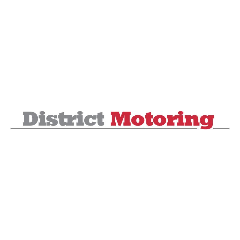 District Motoring vector