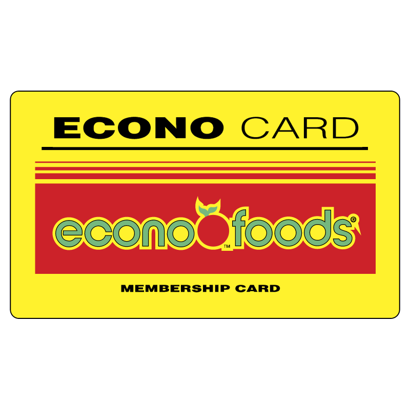Econo Card Econo Foods vector