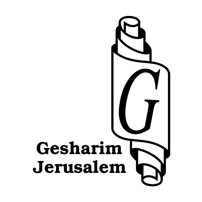 Gesharim Jerusalem vector