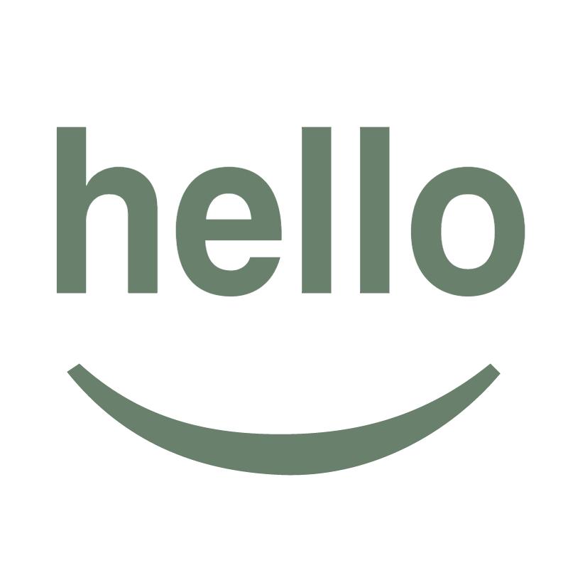 Hello Design vector