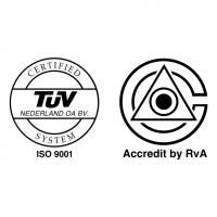 ISO 9001 VCA TUV vector
