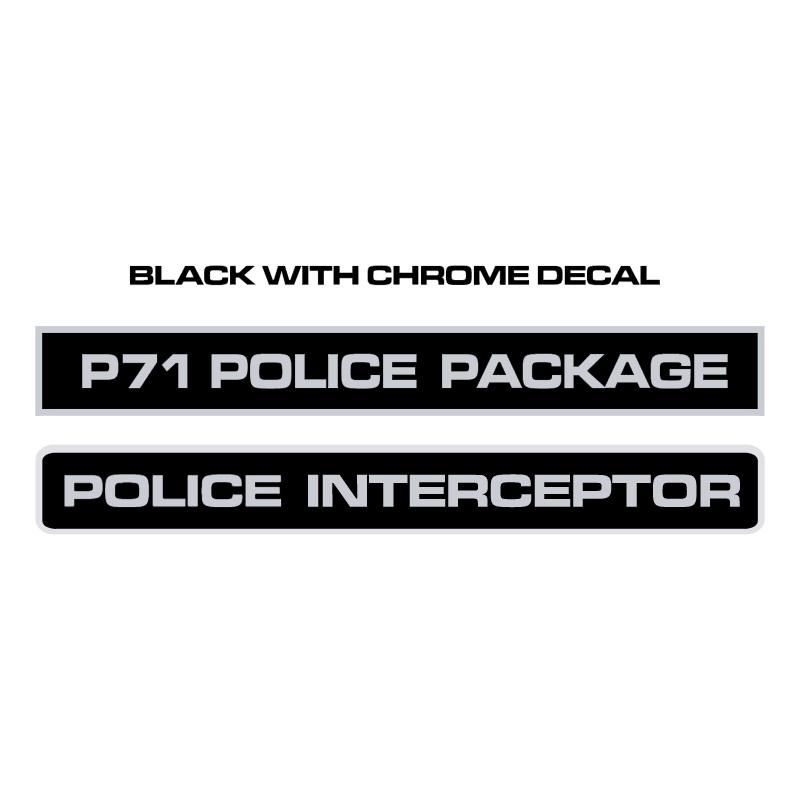 Police Interceptor Decals vector