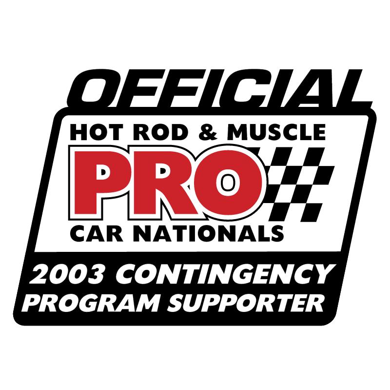 PRO Offical Contingency Sponsor vector