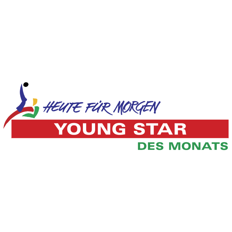 Young Star Des Monats vector