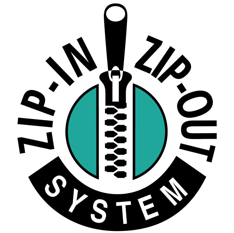 Zip In Zip Out System vector