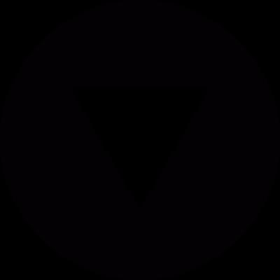 Down triangle shape vector logo
