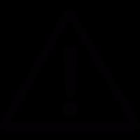 Warning triangular vector