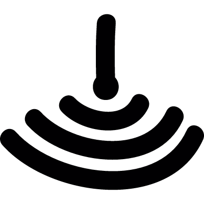 upside down wifi symbol vector logo