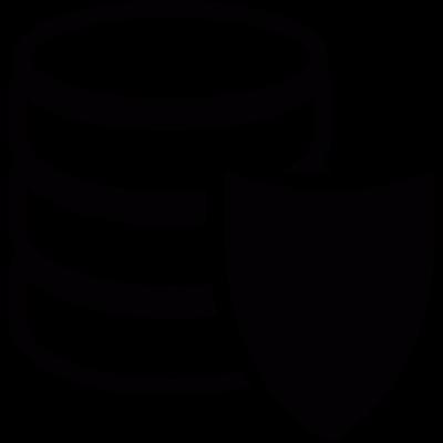 Database protection vector logo