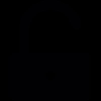 Padlock unlocked vector logo