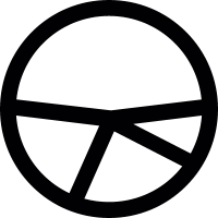 Sliced pie chart vector