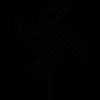 Paper Pinwheel vector